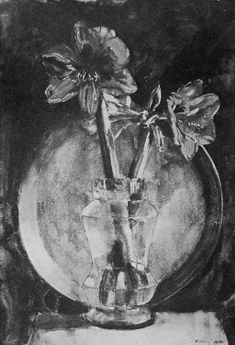 De door Hammacher besproken amaryllis (kopie van de uitnodigingskaart voor de tentoonstelling