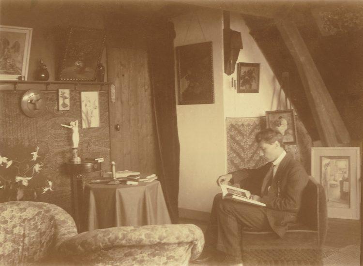 De jonge schilder in zijn atelier in de Riouwstraat, Den Haag